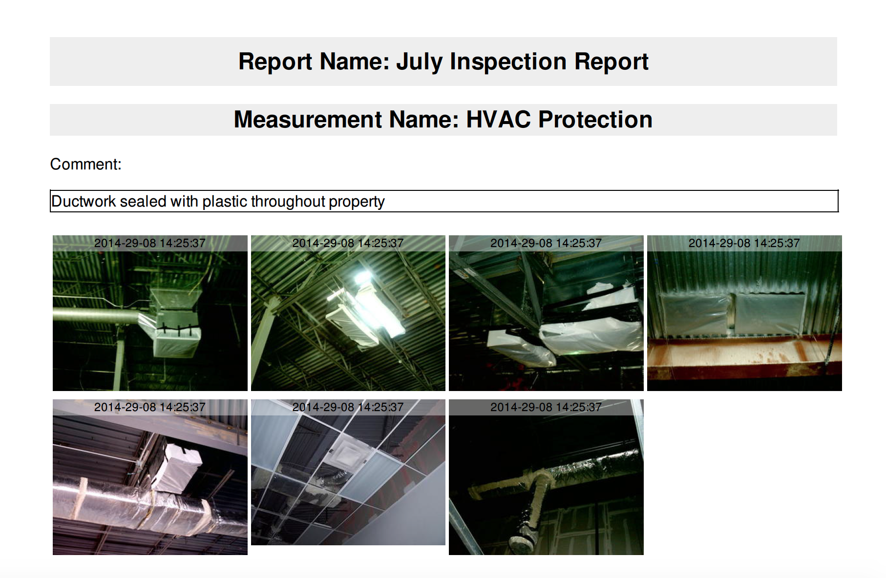 Green badger software allows project teams to take date and time stamped photos for easy documentation for IEQc3.1.
