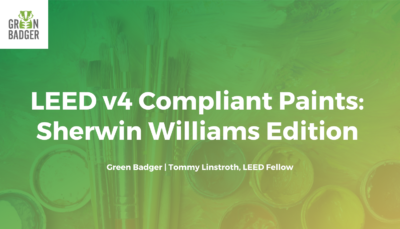 LEED v4 Compliant Paints: Sherwin Williams Edition