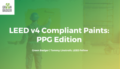 LEED v4 Compliant Paints PPG Edition