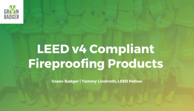 LEED v4 Compliant Fireproofing Products