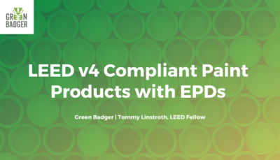 LEeD v4 compliant paint products