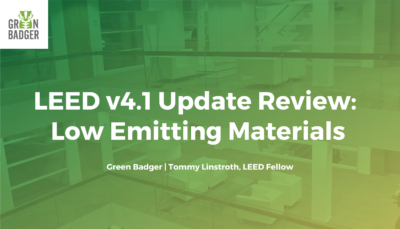 LEED v4.1 Update Review: Low Emitting Materials
