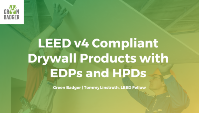 LEED complaint drywall products
