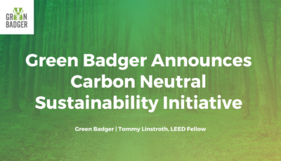 Announcing Carbon Neutral Sustainability Initiative