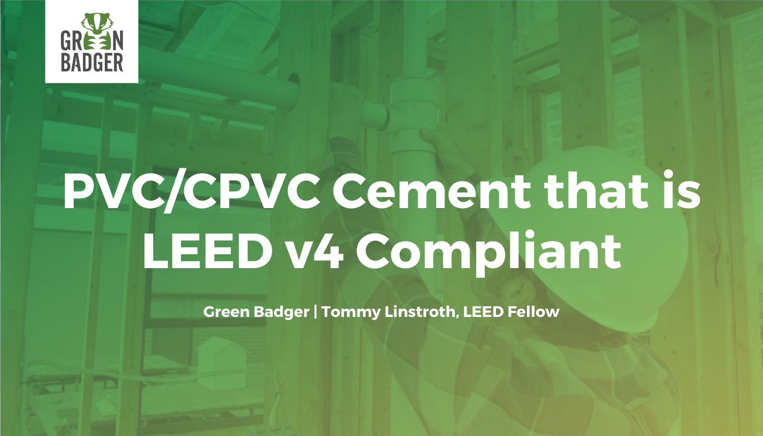 PVC and CPVC Cement that is LEED v4 Compliant