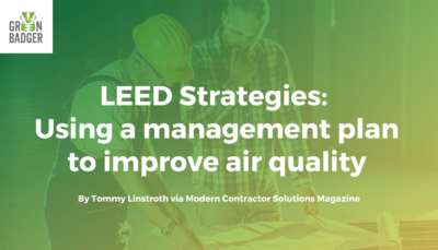 LEED Strategies Using a management plan to improve air quality