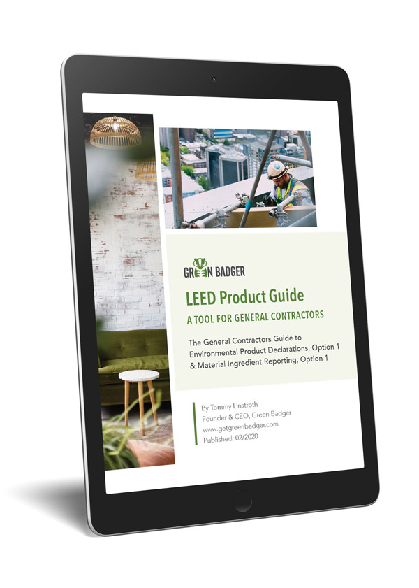 The LEED product guide is a free ebook for general contractors working on LEED projects.