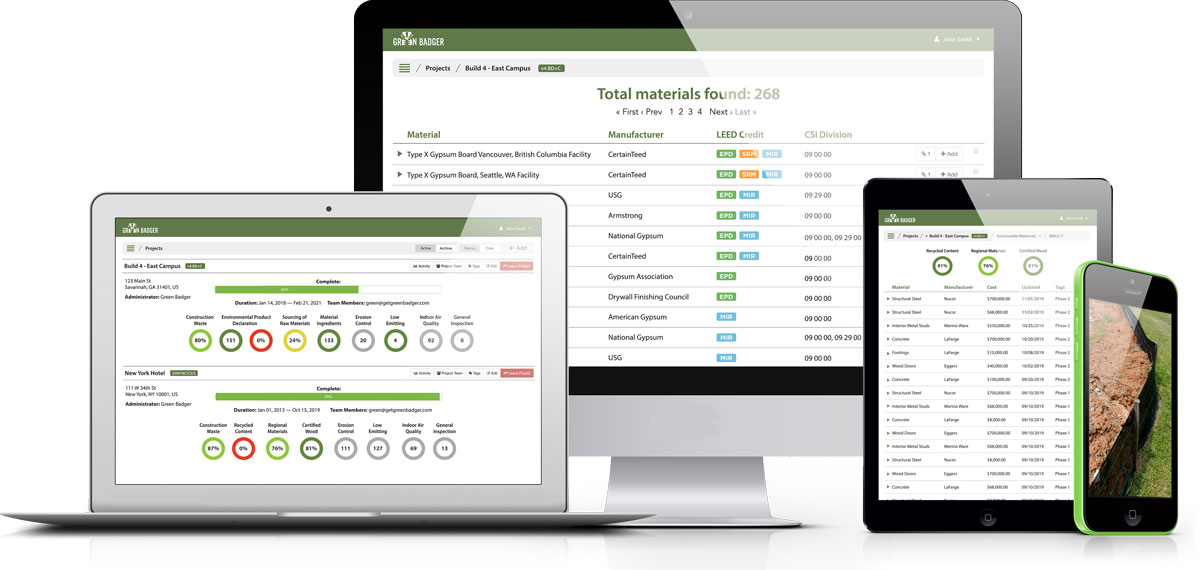 Green Badger LEED Automation software