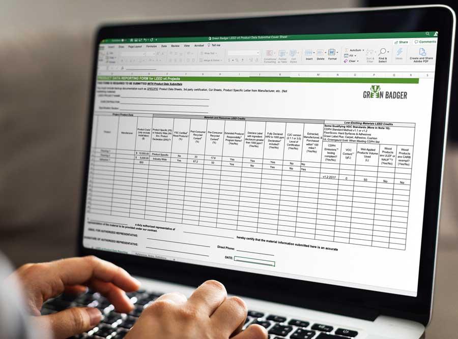 LEED Materials Product Coversheet General Contractors