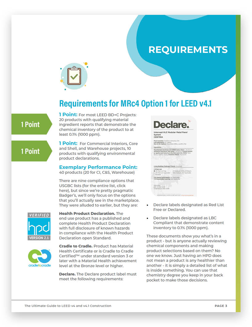 MRc4-Option-1-Material-Ingredient-Reporting requirements LEED green badger