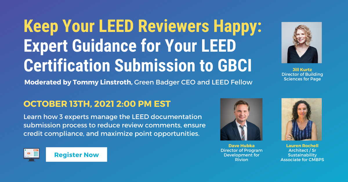 Webinar Feature Image - Keep Your LEED Reviewers Happy 2