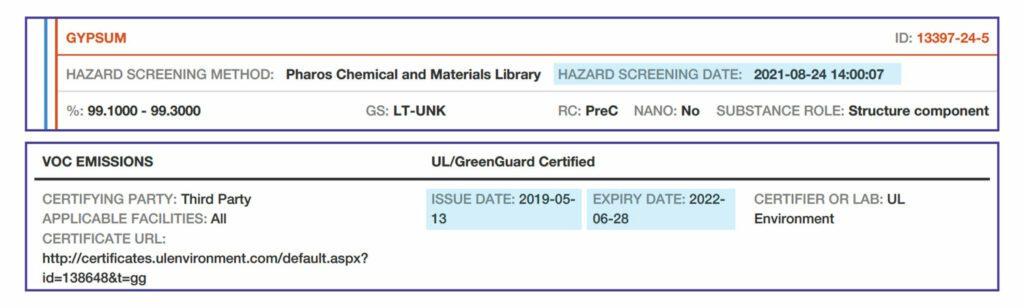 HPD Hazard Screening Dates