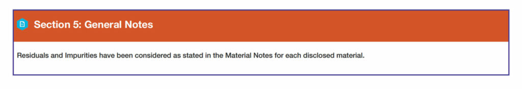 Section 5: General Notes