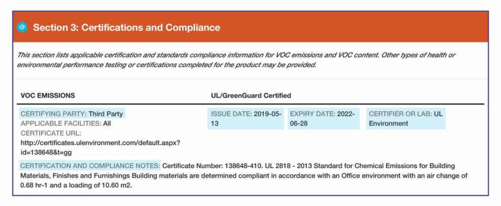 Section 3: Certifications and Compliance